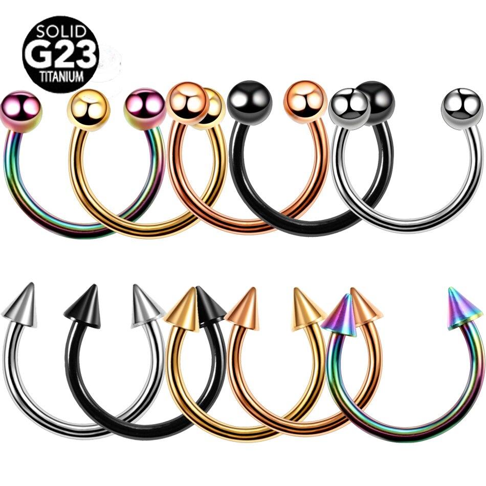 Кольцо из титана G23 Для Пирсинга Ушей, ювелирное изделие для ушей, носа, завитка ушной раковины, лета, губ, бровей, CRB, 1 шт.