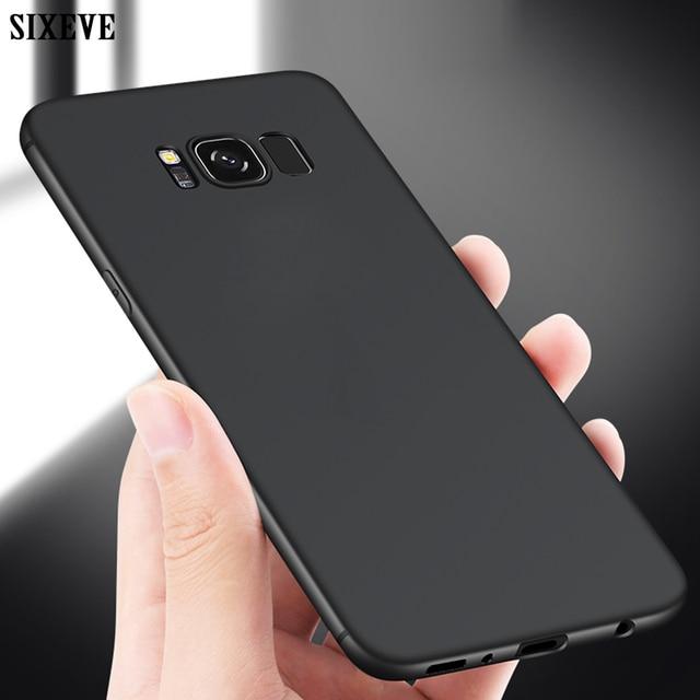 SIXEVE Ultra דק מקרה טלפון סלולרי עבור Samsung Galaxy S6 S7 קצה S8 S9 S10 e Lite בתוספת S8Plus S9Plus duos TPU סיליקון כריכה אחורית