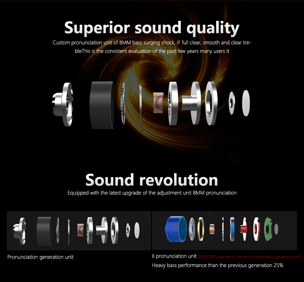 KZ-ED2 Professional In-Ear Earphone Metal Heavy Bass Sound Quality Music Earphone China's High-End Brand Headset fone de ouvido 4