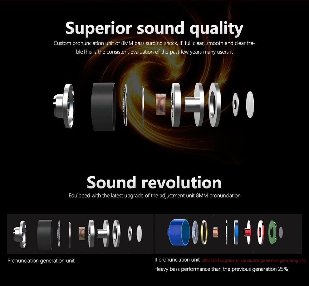 QKZ DM6 Professional In Ear Earphone Metal Heavy Bass Sound Quality Music Earphone China's High-End Brand Headset