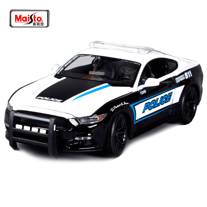 Maisto 1:18 2015 Ford Mustang GT Police car Sports Car Diecast Model Car Toy New In Box Free Shipping 36203 pagani design mens watches fashion sport quartz watch men dive male clock chronograph military waterproof wristwatch erkek saat
