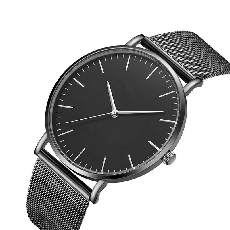 Black Stainless Steel Watch Business Men Watches Luxury Brand CTPOR Design High-end Men's Watch Wristwatch Man Quartz Clock DW