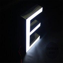 Salida de fábrica al aire libre más brillante letra de resina led luces de señal para iluminado cartas
