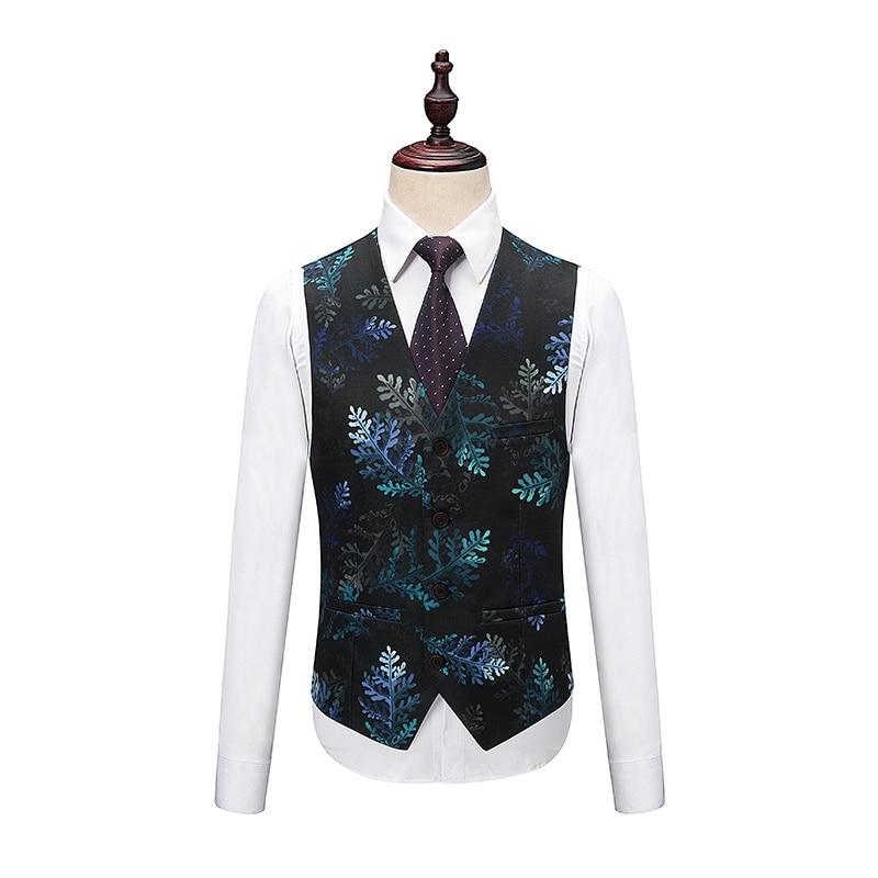 1 Ensemble Hamilton 2 Pièces Broderie Motifs design Gilet Design Robe Mascarade 3 De veste Hommes Pantalon Costume Floral Gilet Impression wTBAqA