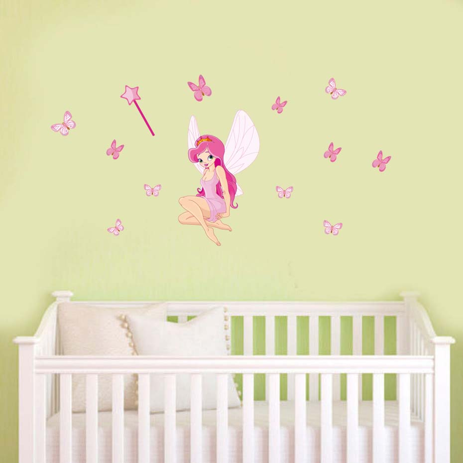 Fancy Pink Butterfly Wall Decor Motif - The Wall Art Decorations ...