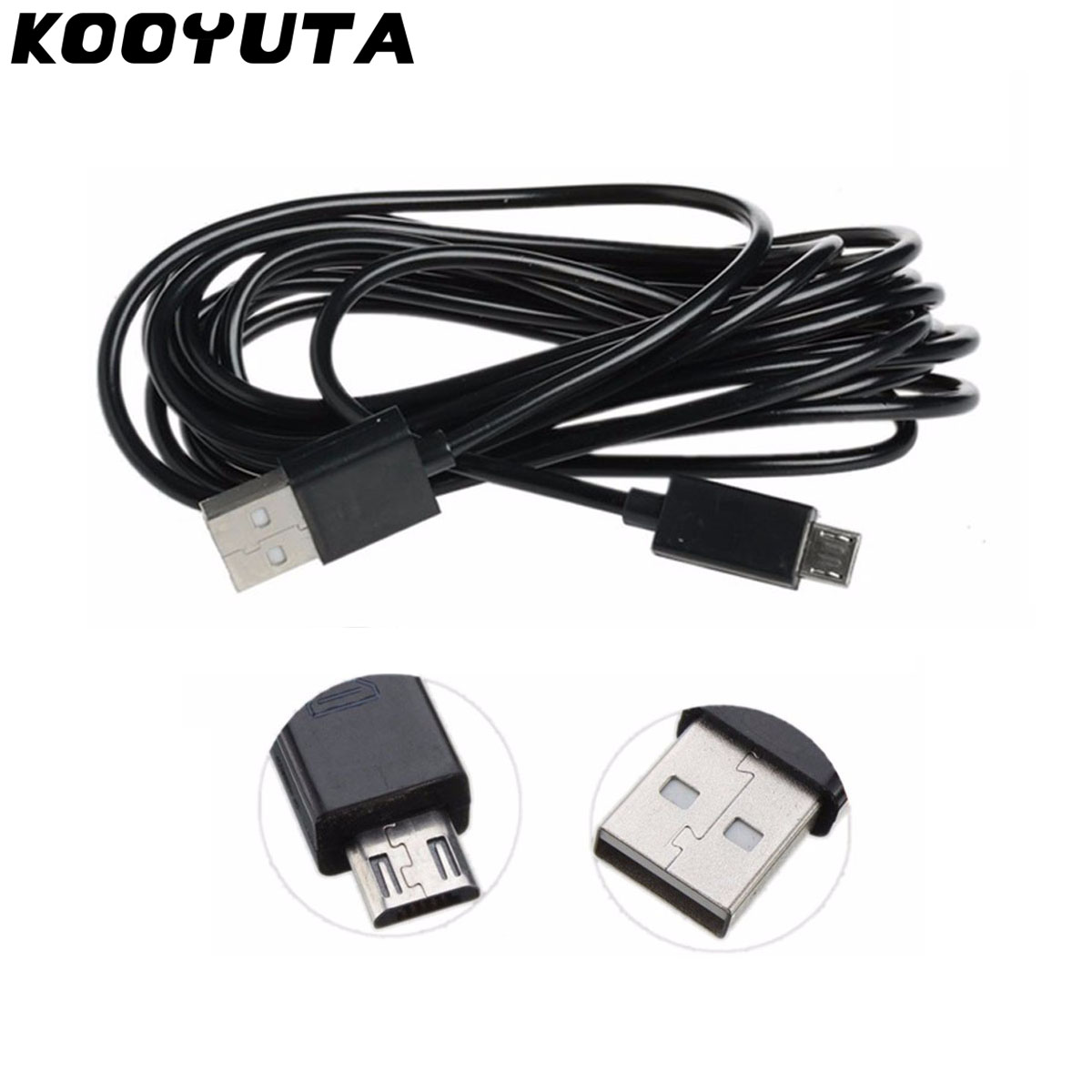 KOOYUTA 3M Extra Long Micro USB Charger <font><b>Cable</b></font> Play Charging Cord Line for Sony Playstation <font><b>PS4</b></font> 4 Xbox One Wireless <font><b>Controller</b></font> image