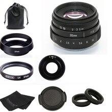 新到着福建省 35 ミリメートル f1.6 C マウントカメラ CCTV レンズ ii M4/3/MFT マウントカメラ & アダプタ黒キット送料無料
