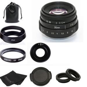 Image 1 - new arrive FUJIAN 35mm f1.6 C mount camera CCTV Lens II for M4/3 / MFT Mount Camera & Adapter black kit free shipping