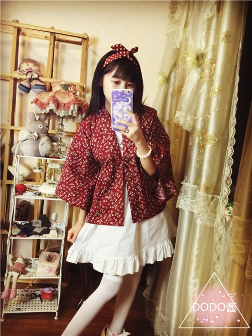 Женский японский кимоно Стиль Верхняя одежда JK короткий кардиган юката стиль винтажная Блузка Косплей 3 узора
