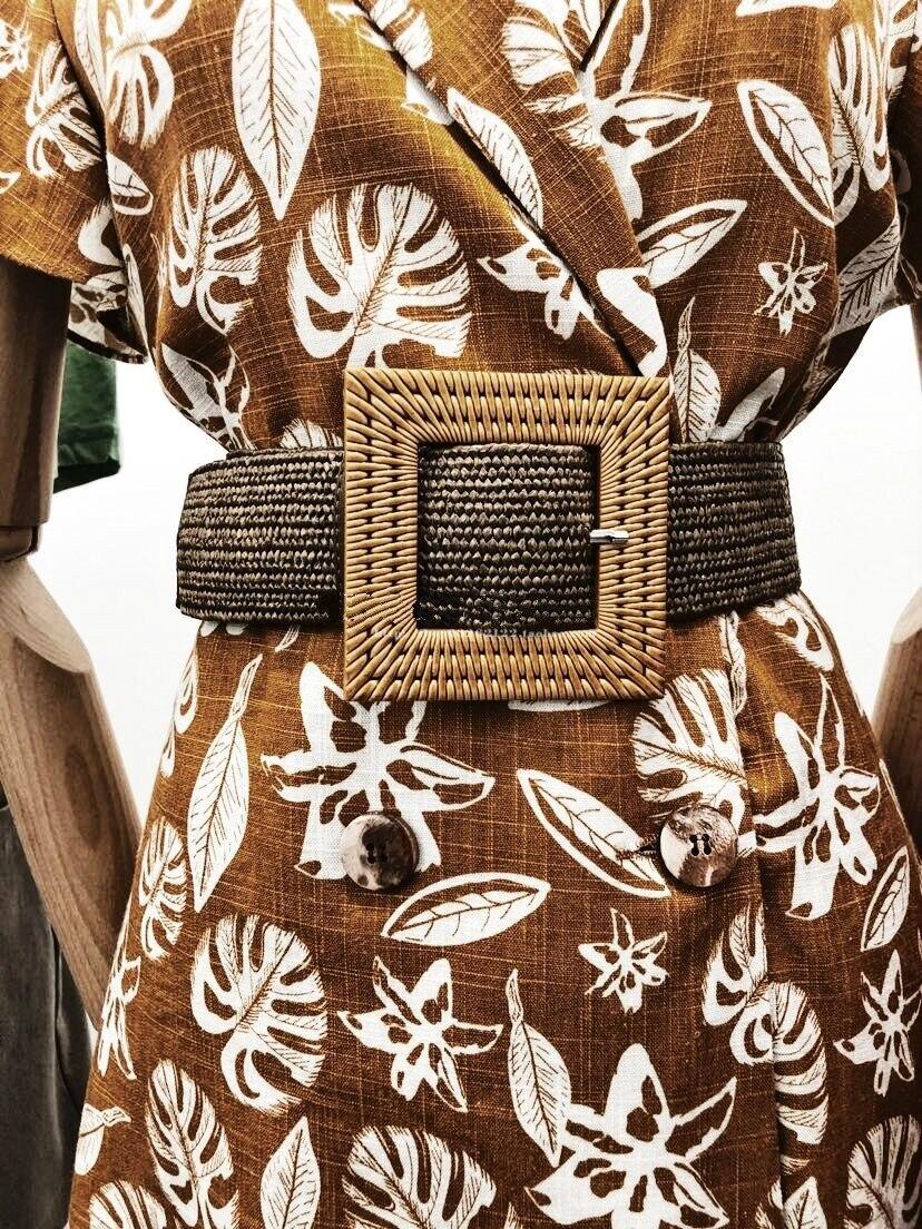 Cinturon Hombre femmes adultes réel Mujer ceinture tactique femmes 2019 été nouveau rétro vent paille généreuse boucle large côté dames