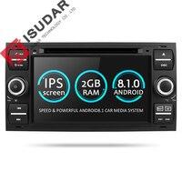 Isudar штатная магнитола автомобилый плеер DVD с gps навигатор 2 din с 7 дюймовым экраном android 8.1 для автомобилей Ford/Mondeo/Focus/Transit/C MAX/S MAX/Fiesta 2GB RAM Радио