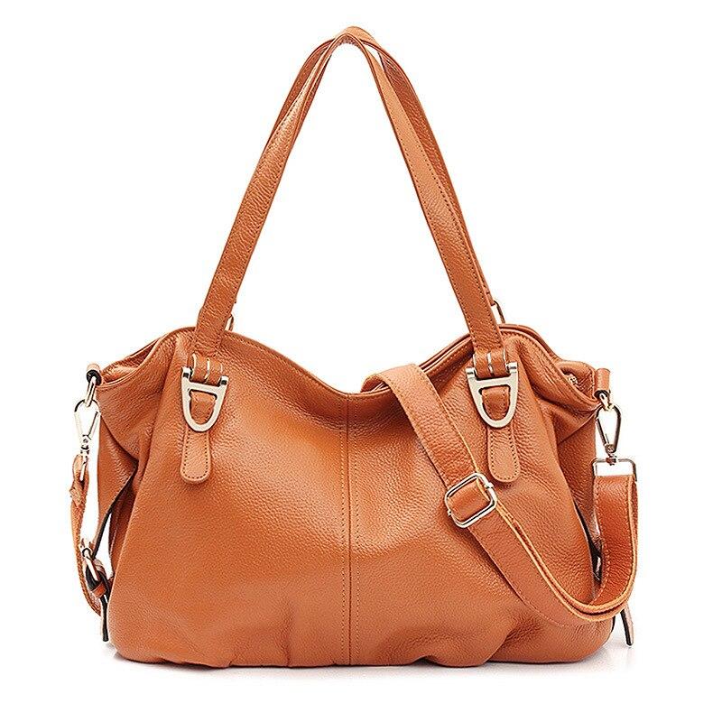 2018 Fashion Women Genuine Leather Handbags Cowhide Real Leather Shoulder Bag Women Crossbody Bags Messenger