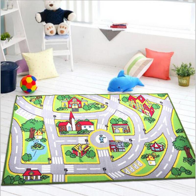 Spiel Lane Kinder Teppich Baumwolle Und Polyester Maschine Waschbar Rechteck Wohnzimmer Anti Slip Grosses