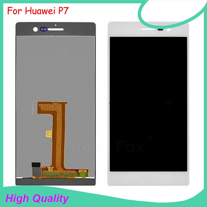 ЖК дисплей для Huawei Ascend P7, кодирующий преобразователь сенсорного экрана в сборе, 100% протестированный Оригинальный дисплей 5 дюймов 1920x1080, инс