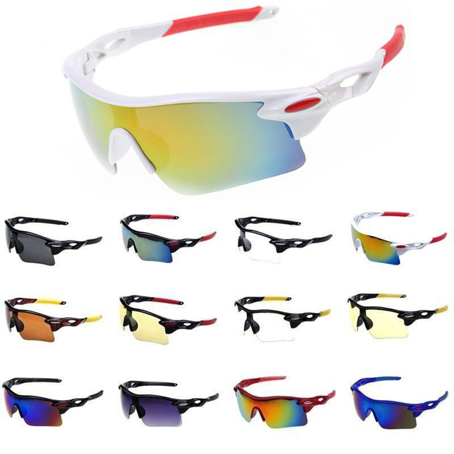 b4bc6fc3b1 Sports Sunglasses for Men   Women Windproof UV400 Cycling Running Driving  Fishing Golf Baseball Softball Hiking