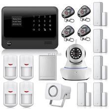 WiFi Internet GSM GPRS SMS de alarma OLED Casa de Alarma de Seguridad sistema de Control de APP + Cámara IP wifi App Integrado En Alarma App