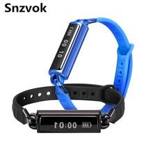 Snzvok DB02 Смарт Bluetooth Браслет Монитор Сердечного ритма Водонепроницаемый Шагомер Здорового Личности Моды Часы Подарок Для Любителей