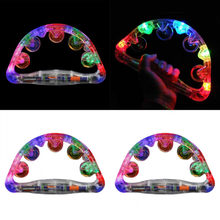 Kids Party Toy Glow Handbell Musical Toy Kids LED Flashing Light Shaking Luminous Party Prop Baby Rattle Toys(China)