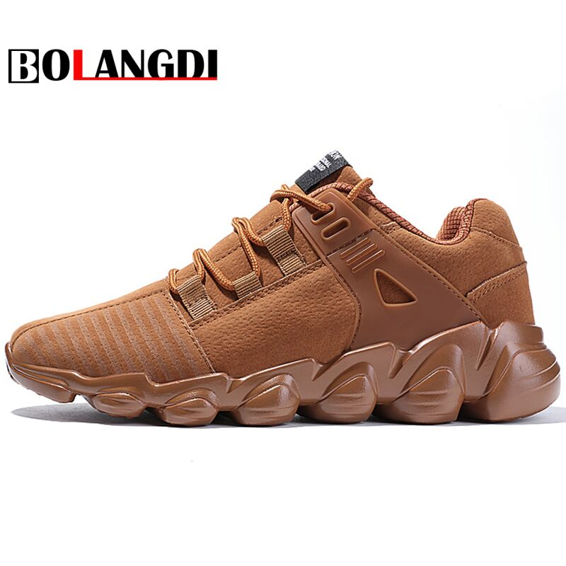 BOLANGDI 2018 Spring New Men Sneakers Male Running Shoes Trainers Lace-up Outdoor Athletic Breathable Comfortable Sport Shoes