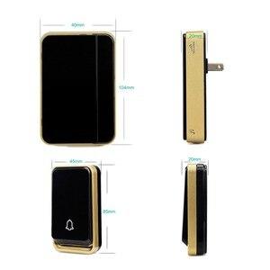 Image 3 - סוללה חינם פעמון עמיד למים משדר דיגיטלי דלת פעמון 51 סוגים של מנגינה Ac/dc Wireless דלת פעמון F1759A