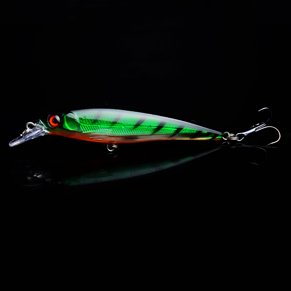 1PCS Minnow Fishing Lure Laser Hard Artificial Bait 3D Eyes 11cm 13 1g Fishing Wobblers Crankbait Minnows Pesca 0 2M in Fishing Lures from Sports Entertainment