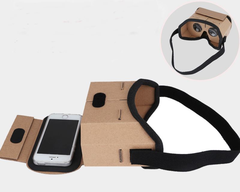 Wearable Paper Cardboard 3D Glasses Virtual Reality BOX VR Goggles Rift for iPhone Plus 4.7 5.5 6 inch Android iOS Smartphone