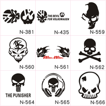 Car Styling Funny Reflective Skull Car Sticker Creative Car Stickers Evil Knight Modified Car Stickers Vinyl Decals Sticker стоимость