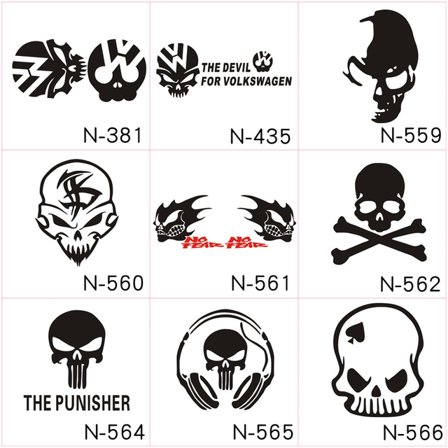Car Styling Funny Reflective Skull Car Sticker Creative Car Stickers Evil Knight Modified Car Stickers Vinyl Decals Sticker
