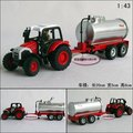 Candice guo! New arrival hot sale farm tractors series oil tank truck alloy model car toy car good for gift 1pc