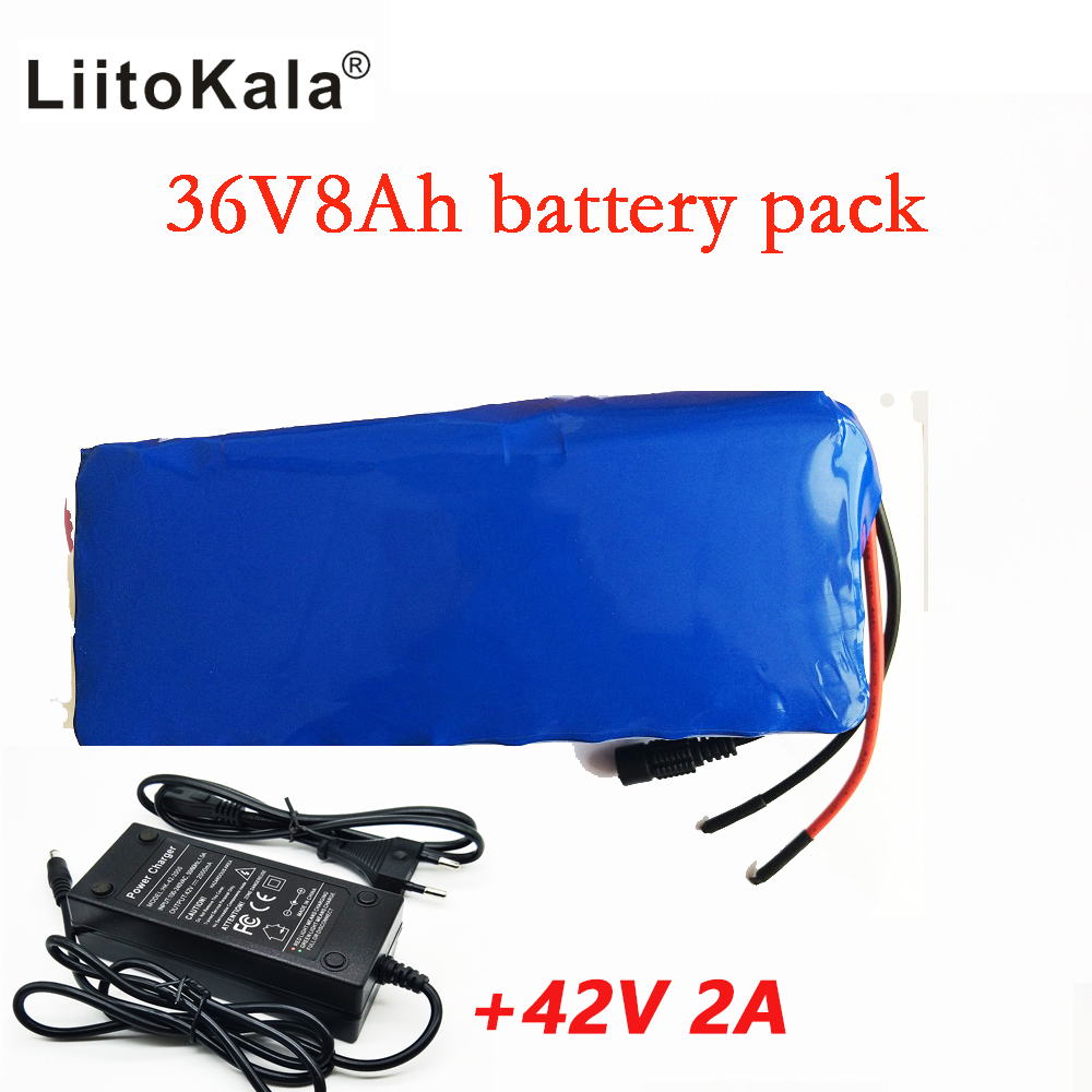 Liitokala 36V 8AH bike electric car battery scooter high-capacity lithium battery +42V 2A Charger 2016 promotion new standard battery cube 3 7v lithium battery electric plate common flat capacity 5067100 page 6