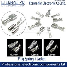 2.8mm 4.8/6.3mm 16A Switch Wire Connectors Crimp Terminals Crimp Spade Terminals With Transparent Insulating Sleeves Plug spring