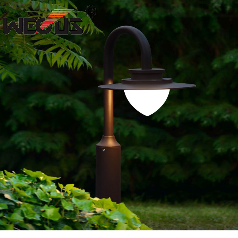 Outdoor lawn Lighting Europe style Aluminum Eternal Flame Path Garden factory courtyard Landscape Lamp