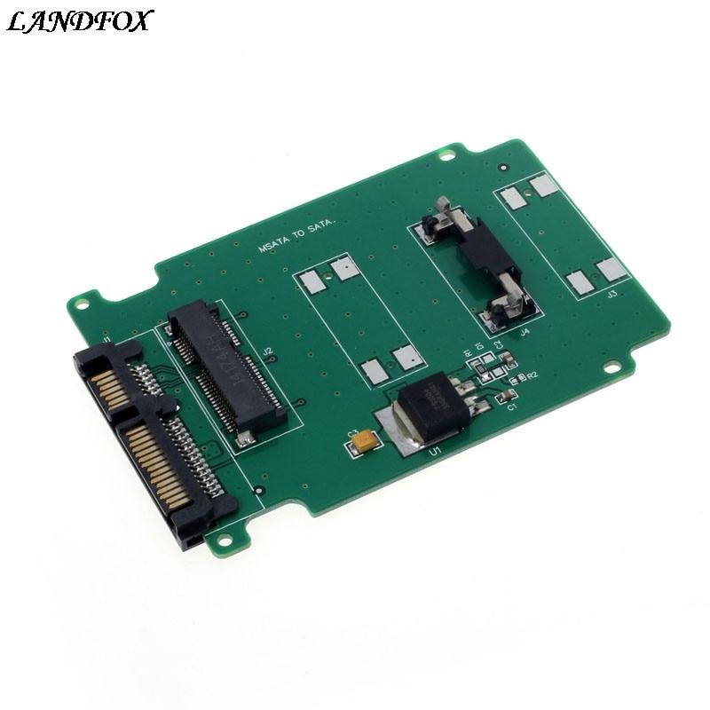 1PC mSATA Mini PCI-E SATA SSD To 7+15 Pin 22 pin SATA Adapter Card Drop shipping шасси orient uhd 2msc12 для ssd msata для установки в sata отсек оптического привода ноутбука 12 7 мм 30345