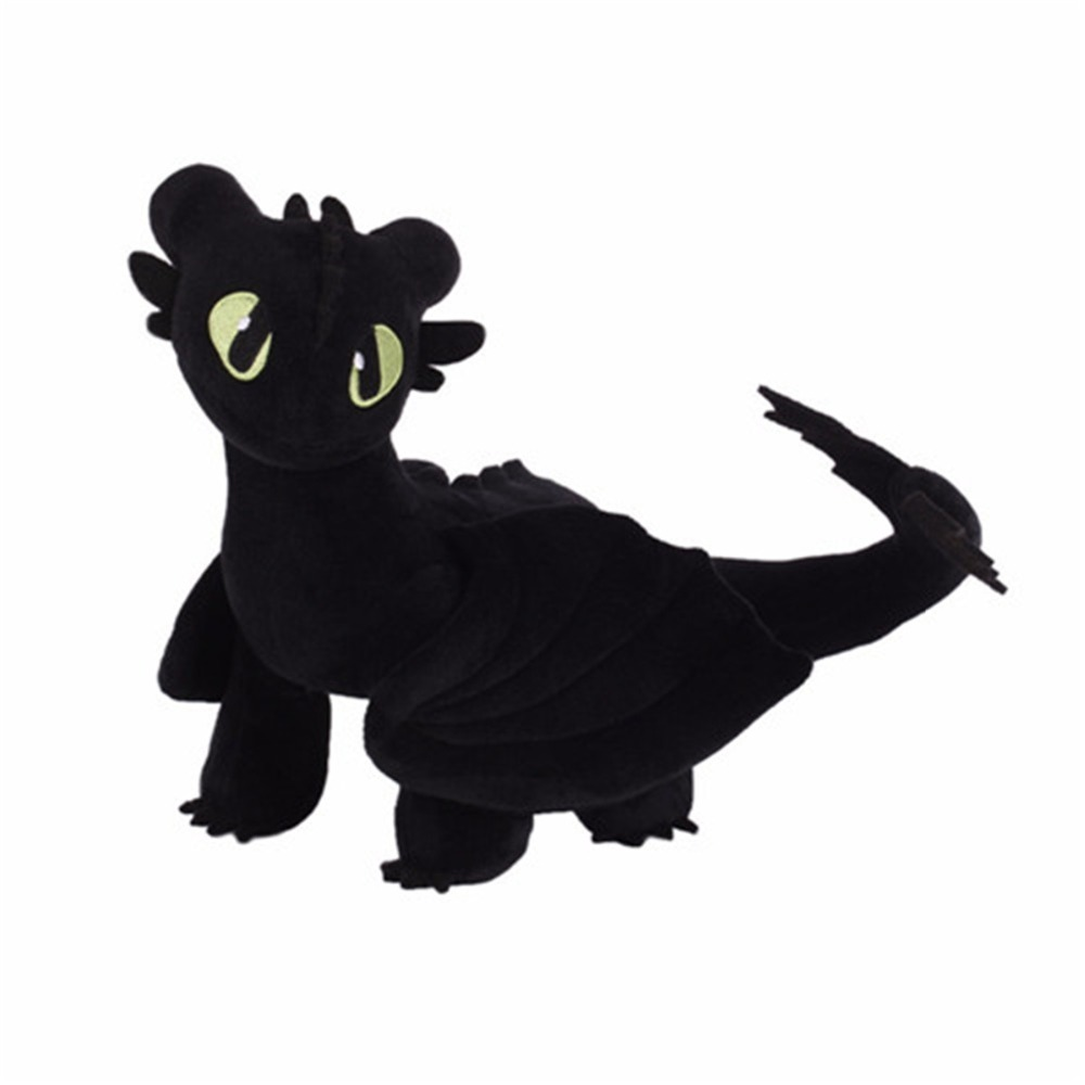 35cm-Anime-Movie-How-to-Train-Your-Dragon-Plush-Toys-Toothless-Night-Fury-Stuffed-Animal-Doll_副本