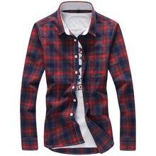Мужская рубашка 5XL 2017 Camisa Masculina