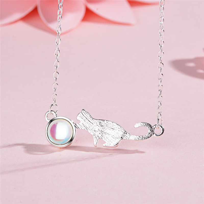TJP Latest Female Crystal Animal Pendants Necklace For Women Jewelry Top Quality 925 Sterling Silver Choker Necklace Girl Lady in Pendant Necklaces from Jewelry Accessories
