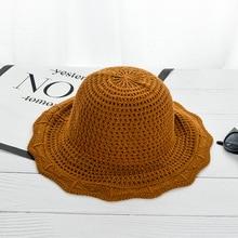 Primavera Verano coreano ola lado algodón cáñamo tapa flor lateral visera  niños verano playa cornisa sombrero plegable sol ca545e1f4f6