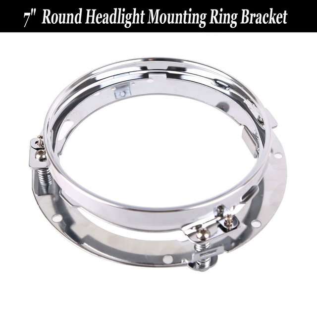 "1pc Chrome Mounting Extension Trim Support For Harley Davidson Motorcycle 7"" Round LED Headlight Ring Bracket"