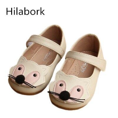 save off 250d7 89b53 Hilabork Lovely little fox 1 3 anni femmina scarpe in pelle bambino ragazza  del bambino bambini bambino scarpe sportive per bambini scuola primo ...