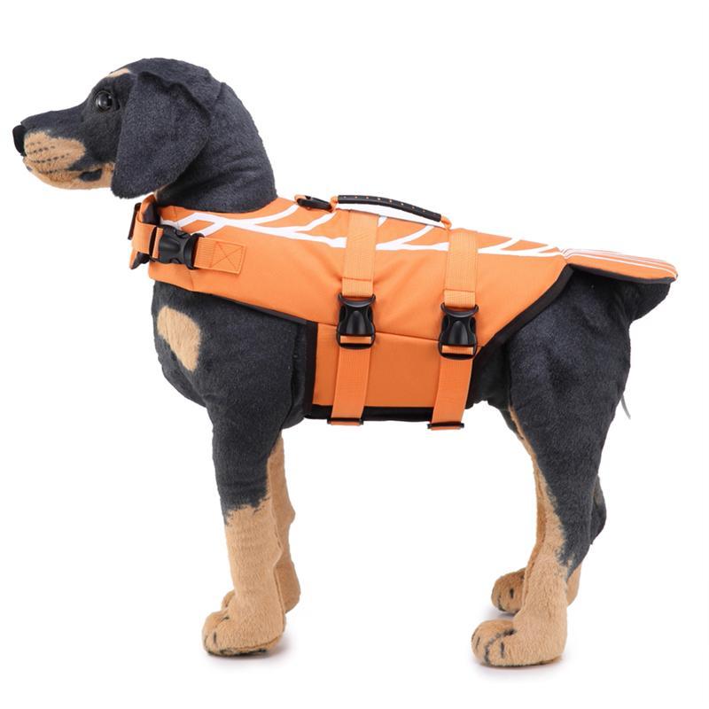 Hund Leben Jacke Größe Einstellbar Hund Rettungsring Durable Leben Weste Schwimmfähig Lebensretter-flasche Größe L Einen Effekt In Richtung Klare Sicht Erzeugen orange