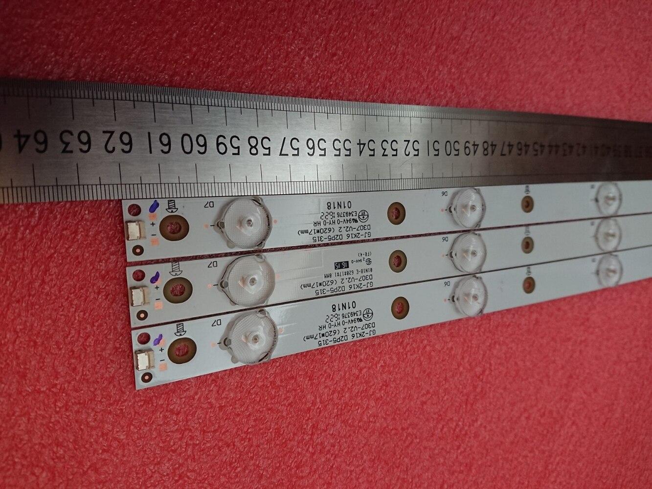 Nouveau 10 set = 30 pièces 7 LED (3 V) 620mm LED bande de rétro éclairage pour KDL 32R330D 32PHS5301 32PFS5501 LB32080 V0 E465853 E349376 TPT315B5-in Pièces de rechange et accessoires from Electronique    1