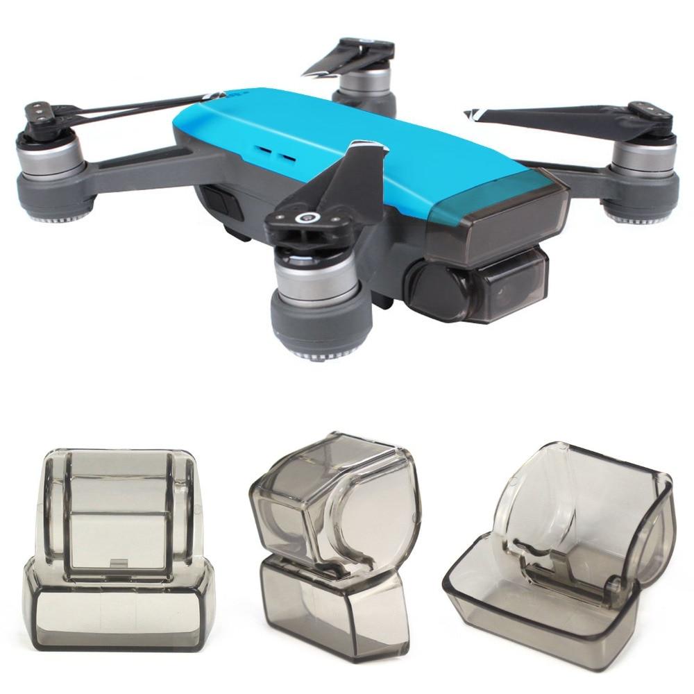 Встроенной крышкой Кепки для DJI Spark Gimbal/Камера/объектив Кепки гвардии спереди 3D Сенсор Экран протектор пыле Drone аксессуары