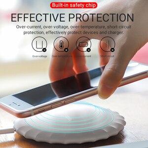 Image 5 - Hoco kablosuz şarj cihazı apple iphone samsung xiaomi telefonları şarj pedi taşınabilir masaüstü adaptörü kablosuz mat şarj standı
