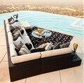 Sigma de oro clásico sofá muebles de ratán sintético conjunto al aire libre sofá en forma de l