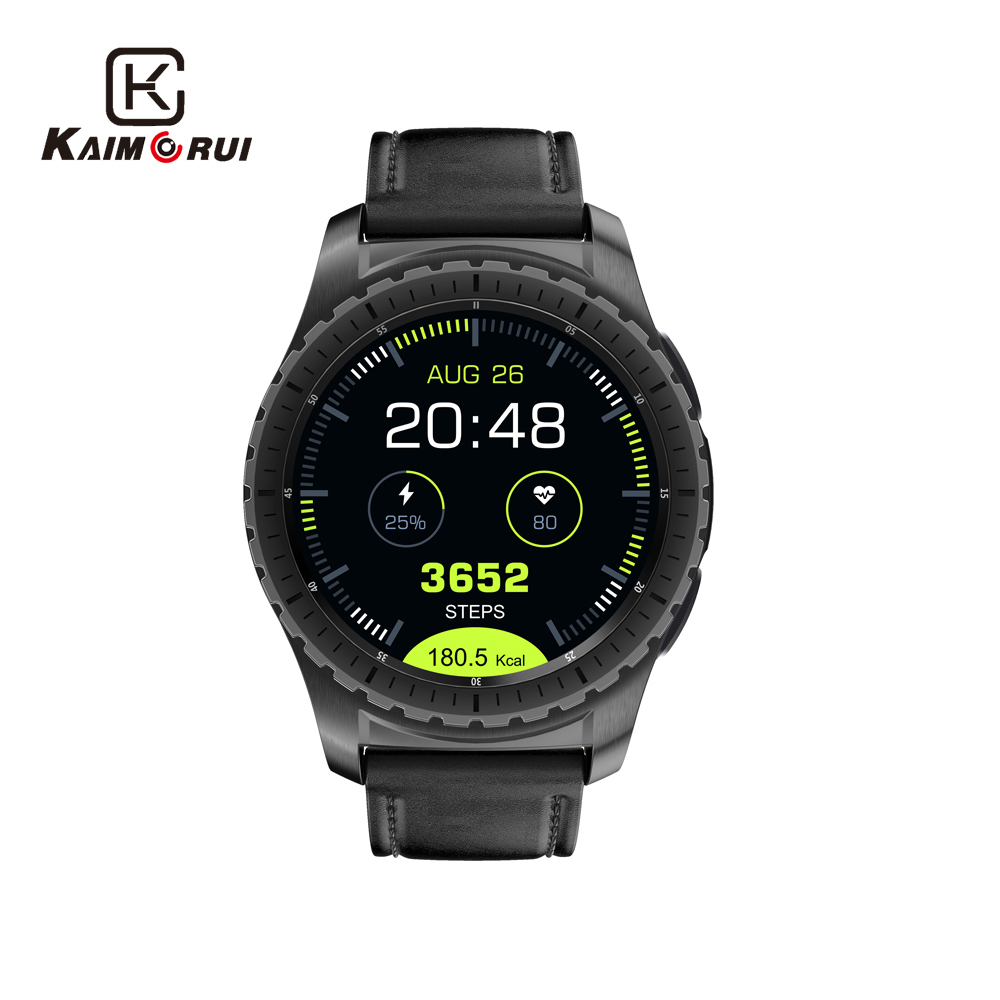 Kaimorui Smart Wristwatch Support TF/SIM Card Men SmartWatch Bluetooth Fitness Tracker Heart Rate Clock For Android IOS Phone fashion s1 smart watch phone fitness sports heart rate monitor support android 5 1 sim card wifi bluetooth gps camera smartwatch