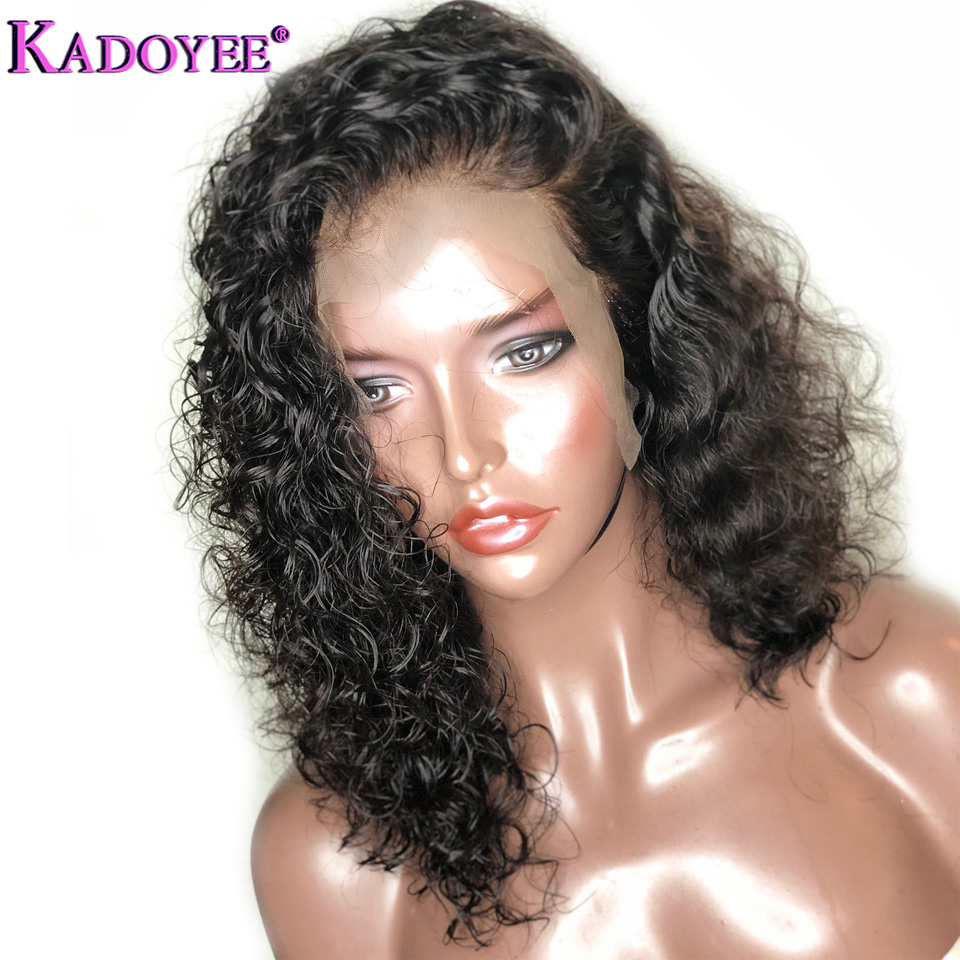 2018 Bob Curly Lace Front Human Hair Wigs For Black Women With Baby Hair Deep Curly