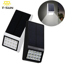 T-SUNRISE New 15 leds Solar Lamp Light with Solar Panel Outdoor Lighting LED Wall Lights Bright Waterproof Garden Street Light