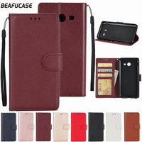 For Coque Samsung Galaxy J3 Prime 2017 Case Leather Cover For Samsung Galaxy J3 Emerge / Prime J327P 5.0