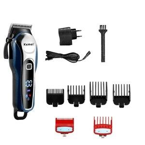 Image 4 - 調整可能なプロのバリカン理髪男性電気髭カッター毛髪切断装置の散髪コードレス
