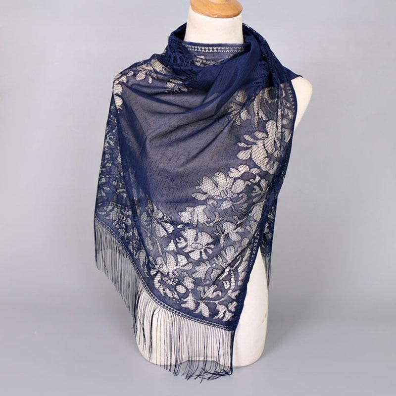 Bufanda Mujer 2019 New Foulard Women Scarf Shawl Headband Echarpe Femme Bandana Tassels Lace Muslim Hijabs Head Scarves